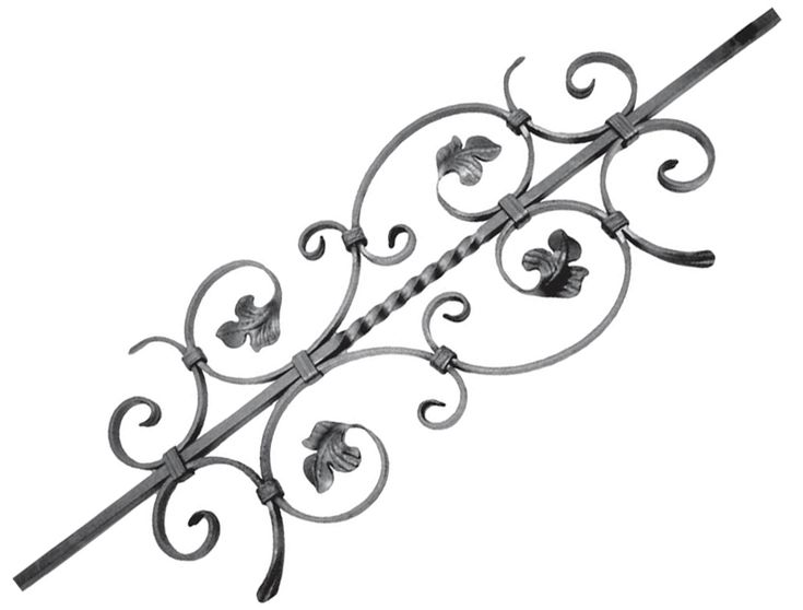 S40-525 Custom Ornamental Iron Works Special Scrolled Baluster! www.customironworks.com