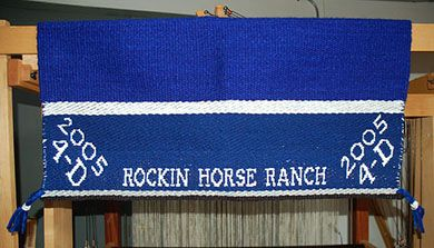 a Branded Saddle Blanket from The Brown Cow. An Award blanket
