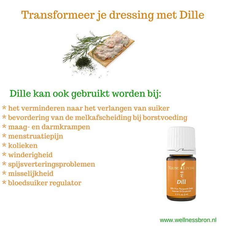 De voordelen van Dille Olie. Dille vermindert het verlangen naar suiker.