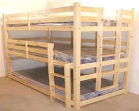 Image result for heavy duty queen over queen bunk bed plans