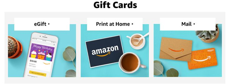 Multiple ways to send an amazon gift card to someone in