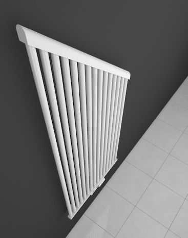 Amber is an extraordinary atypical HOTHOT radiator, which is based on the Pearl model. Not only the bevelled edge, but also the vertical smooth tubes look unusual. The customer can choose the bevelling angle.