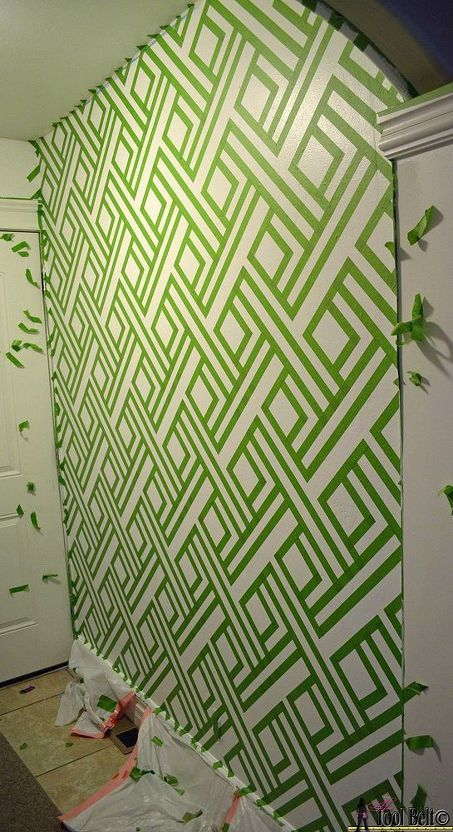 Diy Modern Wall Design With Painters Tape Mud Closet Pinterest