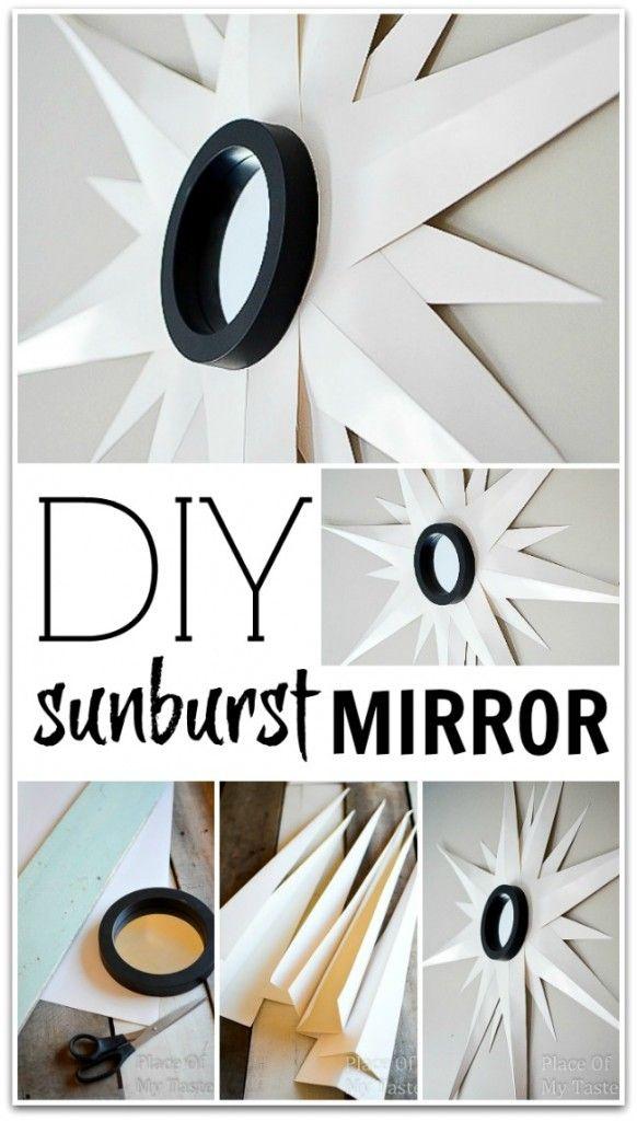 DIY Sunburst Mirror @placeofmytaste.com