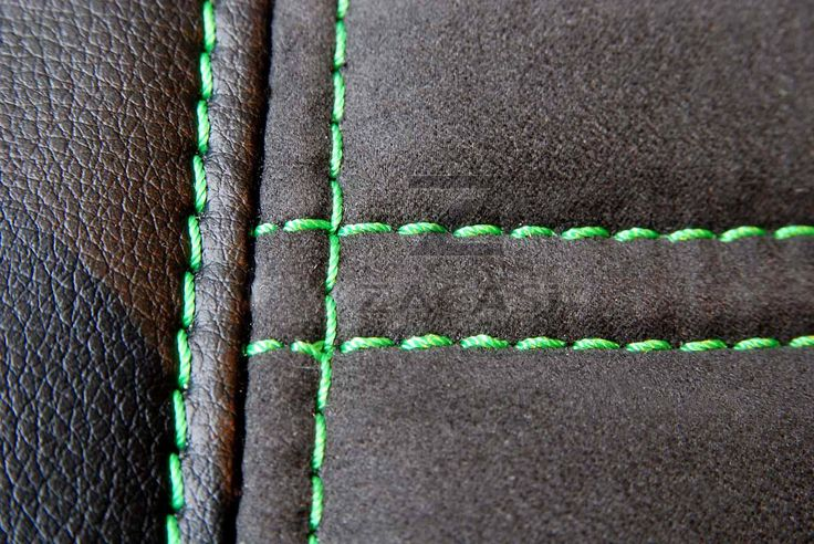 Without extra charge you can choose green stitching. It´s a real eyecatcher!  #ZACASi #seatstyler #seatcover #seam #stiching #colour #green #configurator