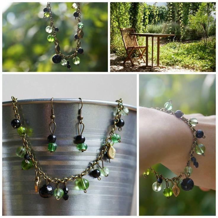 handmade by Hana  ◦ è verde  ◦  náramok/braccialetto/bracelet + náušničky/orecchini/earrings https://www.facebook.com/hmbyha?fref=ts