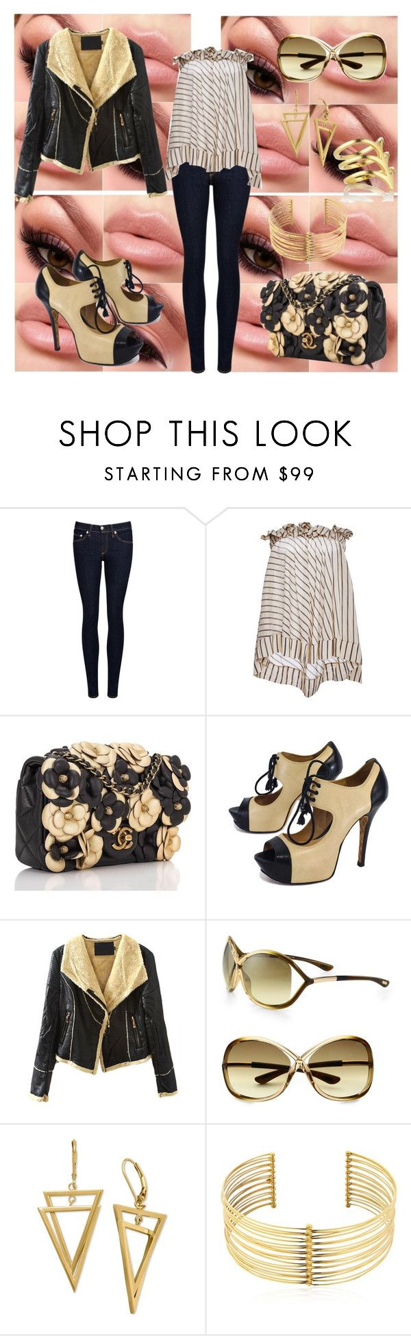"""""""Untitled #694"""" by mentalterrorist on Polyvore featuring rag & bone/JEAN, lila.eugenie, Chanel, L.A.M.B., Tom Ford, REMINISCENCE and Smith/Grey"""