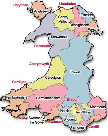 Country Of Wales Map | Search billions of records on Ancestry.com