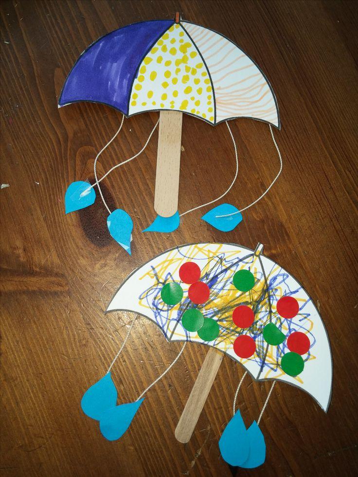 parapluie et bâtonnet de glace