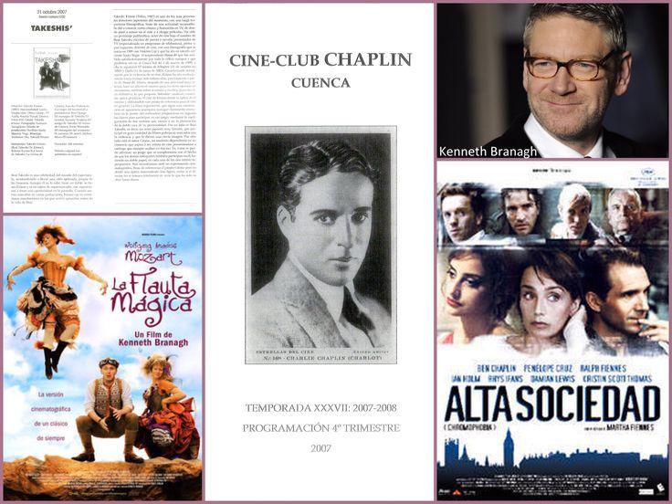 """Programación Cine-Club """"Chaplin"""" 4º trimestre 2007. Una película de Takeshi Kitano con su nombre en el título (""""Takeshi's""""), una desenfadada versión de """"La flauta mágica"""" de Mozart a cargo de Kenneth Branagh y un Richard Linklater distinto a sus """"Antes del amanecer/atardecer/anochecer"""". #CineClubChaplin #MulticinesCuenca #Cuenca #Cine #TakeshiKitano #KennethBranagh #Mozart #RichardLinklater"""