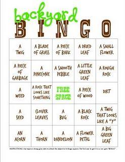 Camping Games for Kidz! Camping Bingo!