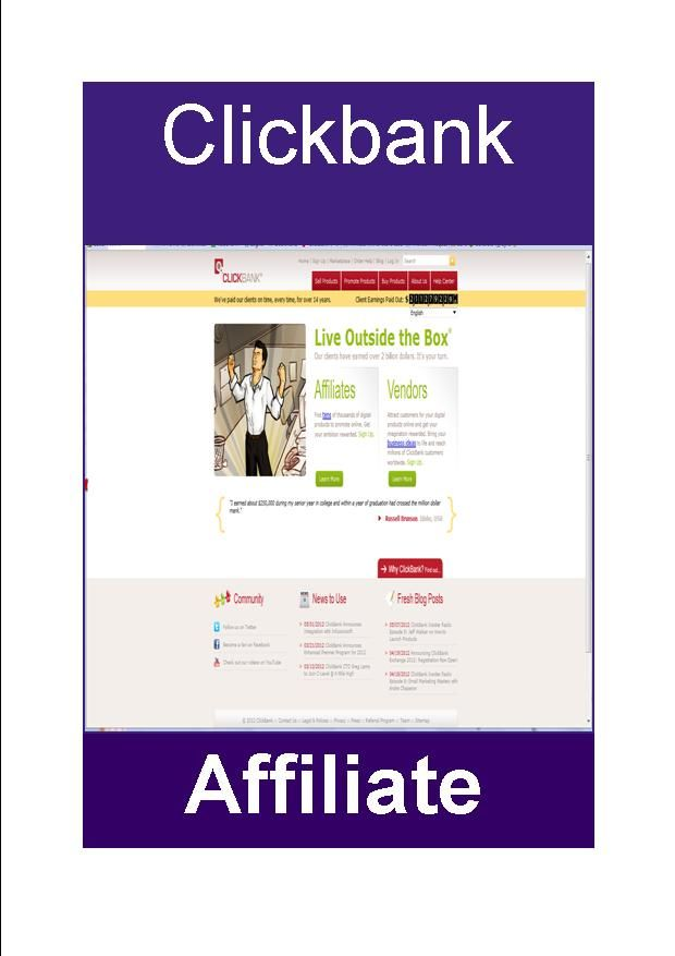 Who has not heard of Clickbank? http://judijaques.com