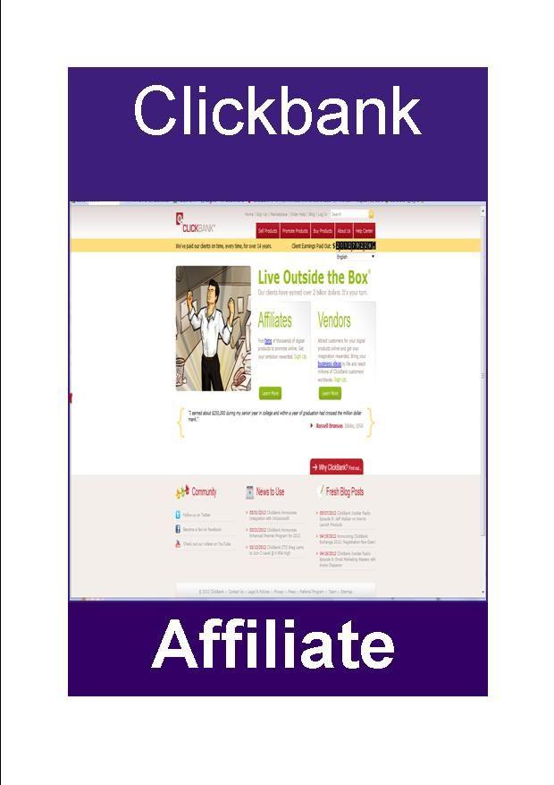 Who has not heard of Clickbank? http://judijaques.com