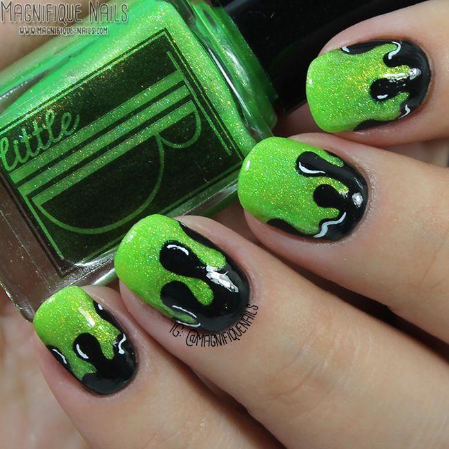 Asombroso Mickey Uñas De Halloween Friso - Ideas de Pintar de Uñas ...