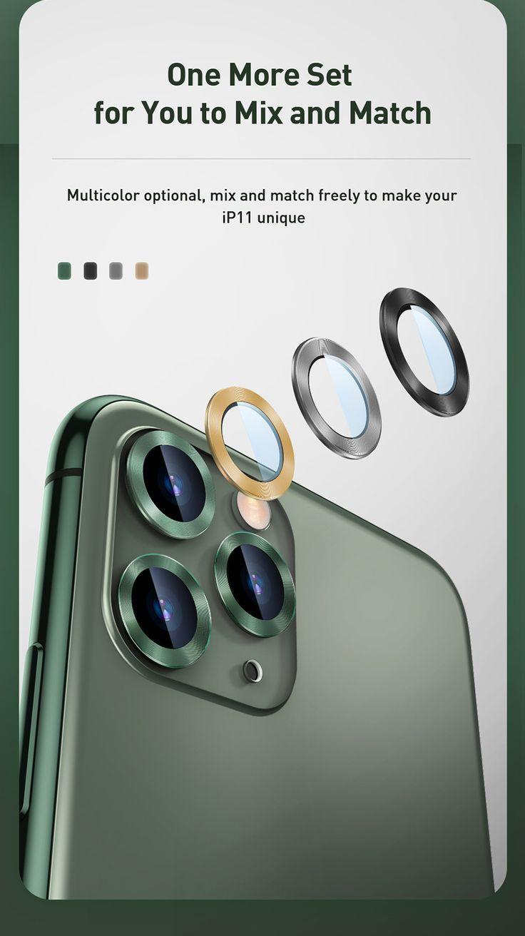 Baseus 04mm rear camera ring for iphone 11 camera lens