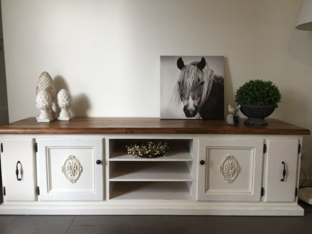 Details About Beata 2m American Country Hampton Style White Tv