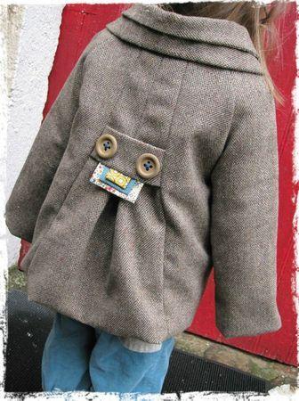 Manteau CEPHEE, Grains de Couture pour Enfants, Ivanne SOUFFLET, by Lililazuli
