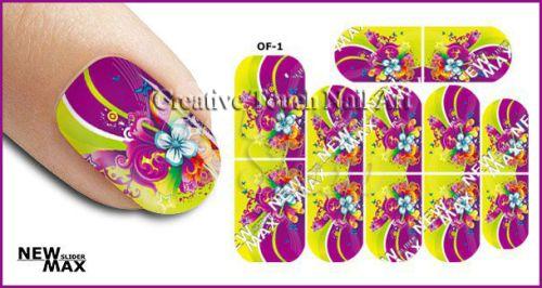 Buy MAX SLIDERS - NAIL ART WATER SLIDER - FLOWERSfor R25.00