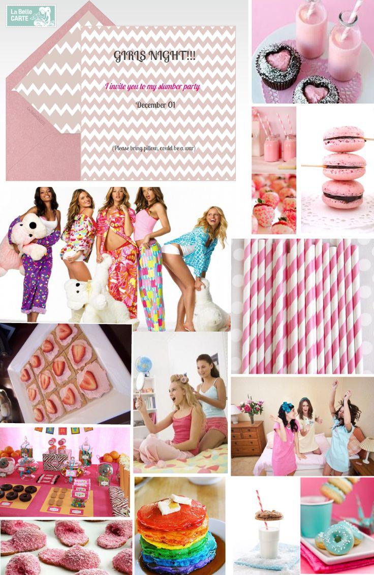 Online Invitations, slumber party, girls, cute, cupcakes, macarons, sweet, invitation
