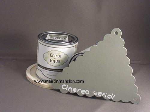 Krijtverf Creta et Aqua 250 ml Cinereo Viridi Oud groen, te verkrijgen in de restyle winkel van Nederland en omstreken. Www.maisonmansion.com