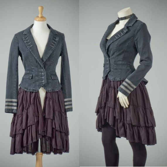 Womens repurposed military dress jacket vintage by redeuxclothing, $245.00