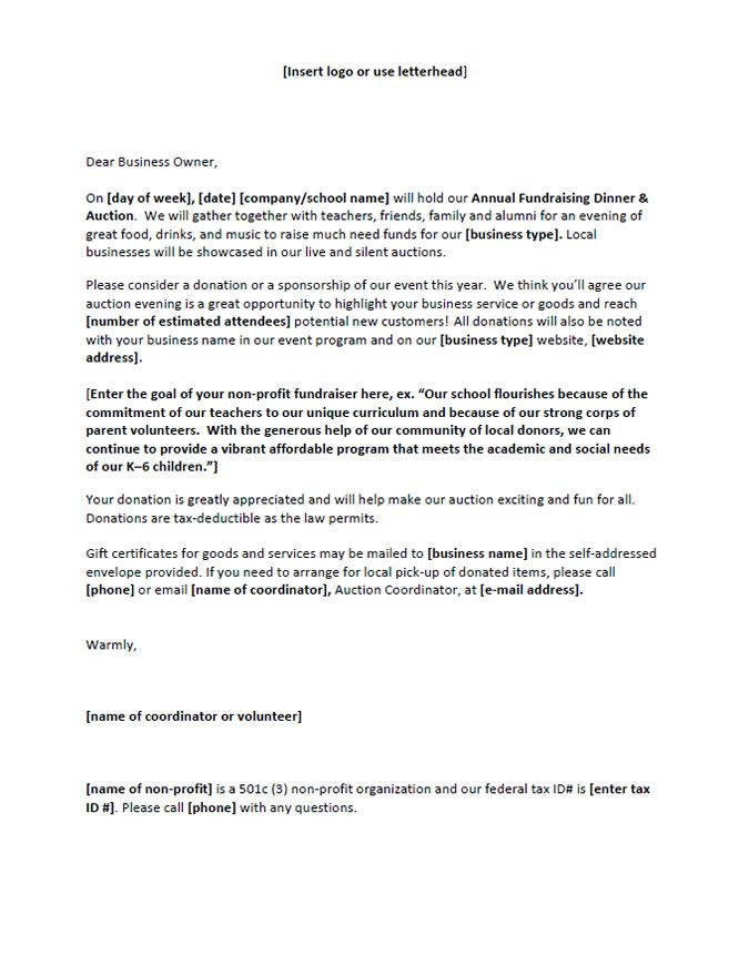 Fundraising Letter For Someone Sick