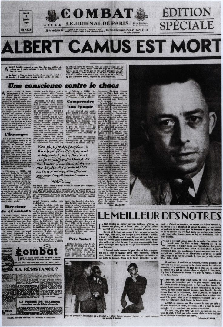 L'accident mortel d'Albert Camus était-il un attentat du KGB ?