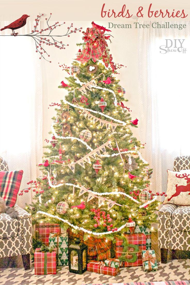 Birds Berries Christmas Tree Michaels Dream Challenge