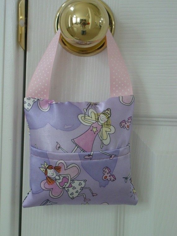 Toothfairy Bag Tooth Fairy Pillow Handmade Gift by MyZebraLovesMe