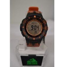 NEW Casio Protrek Triple Sensor Tough -Solar Orange Camo Watch PRG300CM-4