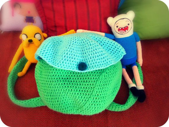 Finn's Backpack Adventure Time Crochet Pattern by NoukoPatterns