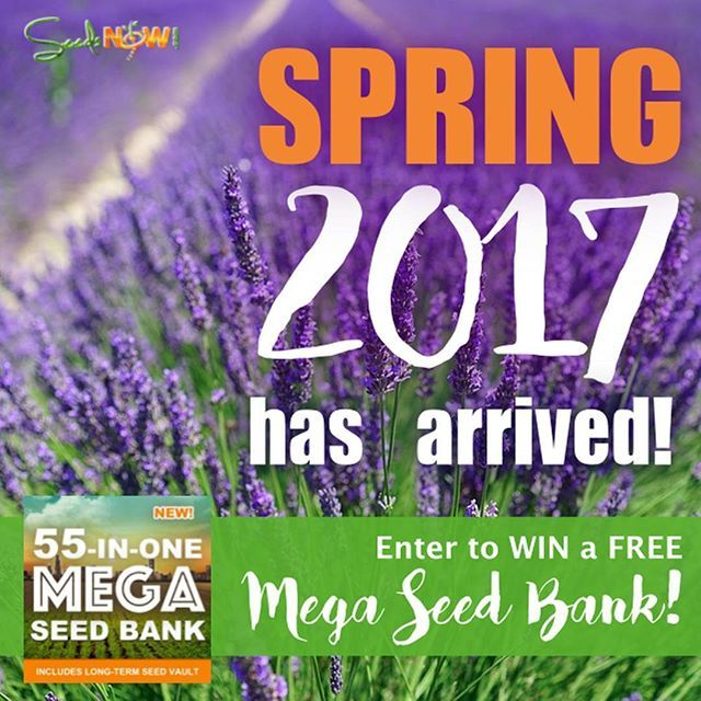 Inspirational This week enter to win a FREE MEGA SEED BANK Submit your