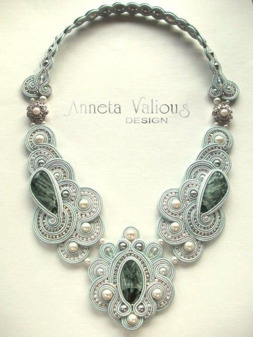 "Soutache embroidery by author Anneta Valious: ""Calypso"""
