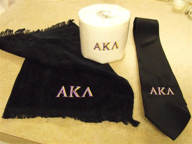 Alpha Kappa Lambda (embroidery for my son)