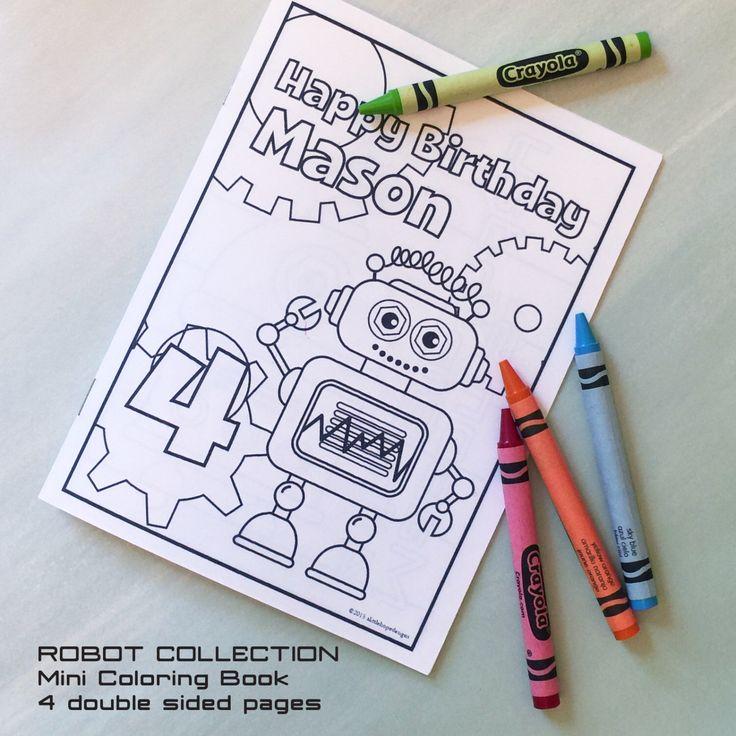Robot Party Mini Coloring Book
