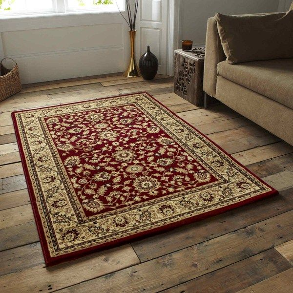 Heritage traditional rugs 0993a red buy online from the rug seller uk