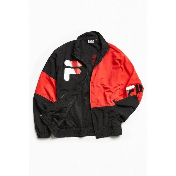 FILA + UO Bronxdale Jacket ($99) ❤ liked on Polyvore featuring men's fashion, men's clothing, men's activewear and men's activewear jackets