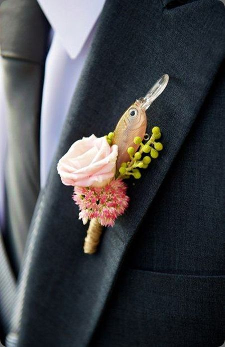 how cool is this for the fisherman; from Modern Day Floral