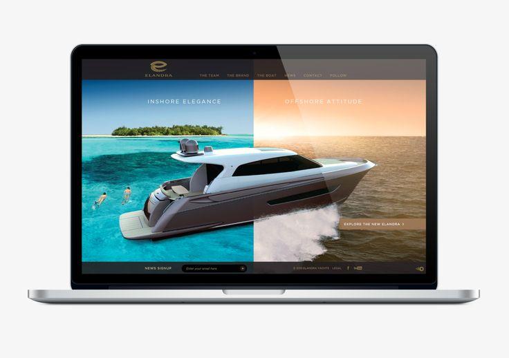 Elandra Yachts Website Design by Onfire Design www.elandrayachts.com