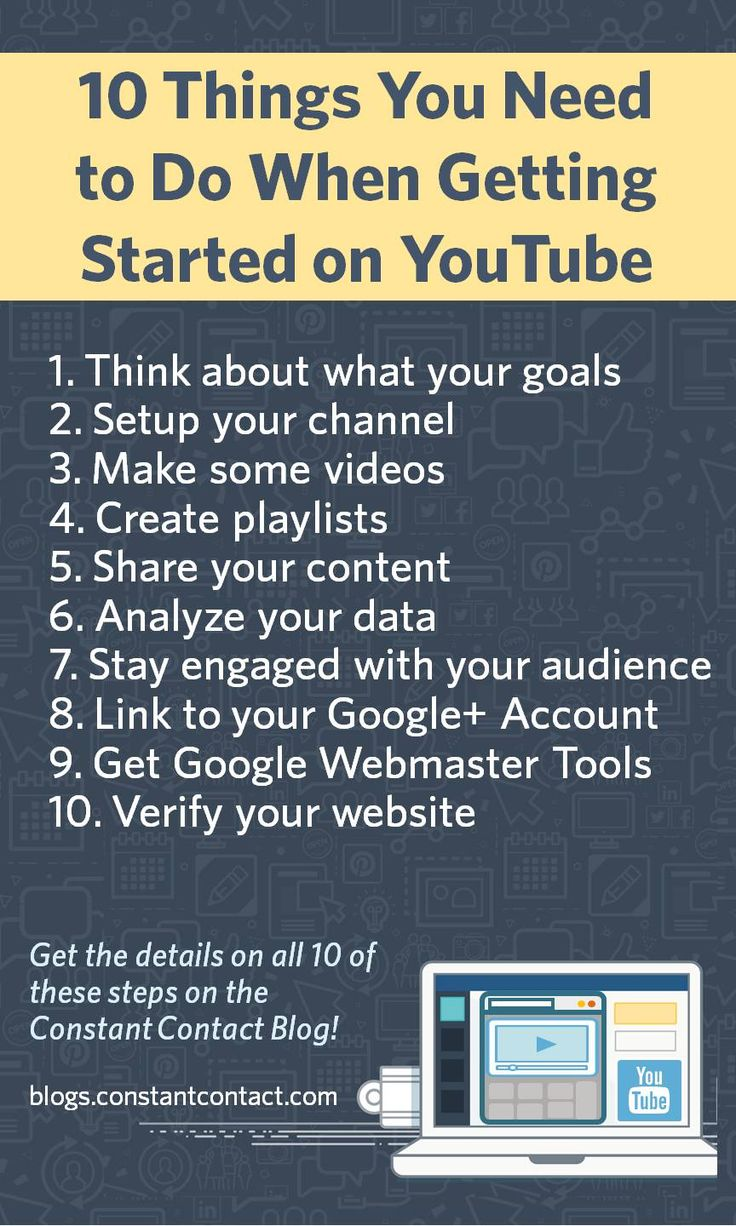 10 Things You Need to Do When Getting Started on #YouTube #socialmedia