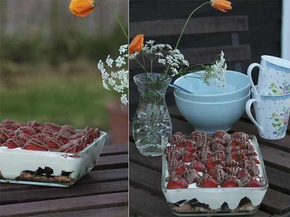 Sommerdrøm med makroner, flødeboller og flødeskum