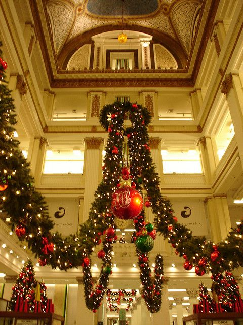 In the old Marshall Field's in Chicago  This is a must at Christmas time.: Beautiful Flower, Chicago Winter Travel, Marshalls Fields, Downtown Chicago, Chicago State Street, Marshall Fields Chicago, Chicago In Winter, Chicago Memories, Chicago Class