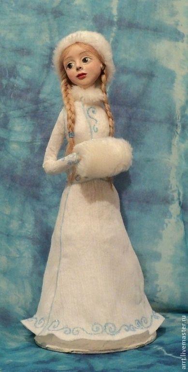 Купить Снегурочка Авторская кукла - голубой, белый, снегурочка, кукла снегурочка, авторская кукла, статуэтка