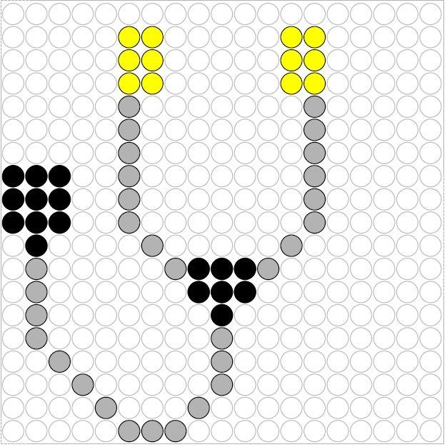 Stethoscope perler bead pattern