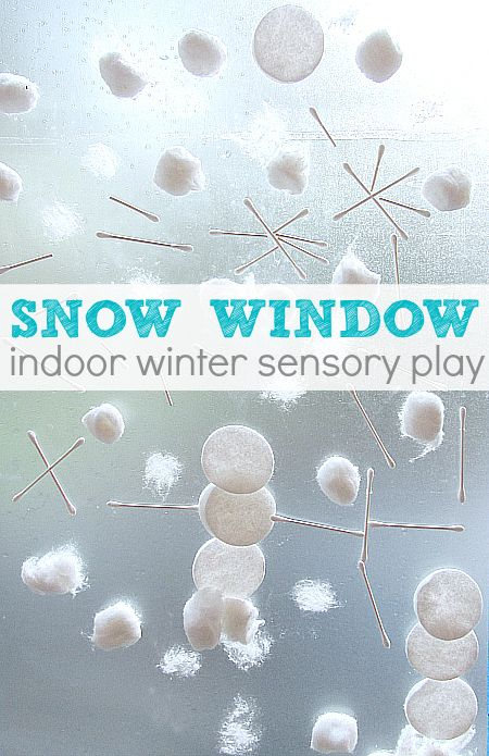 Winter activity for preschool - have fun making a snow window!