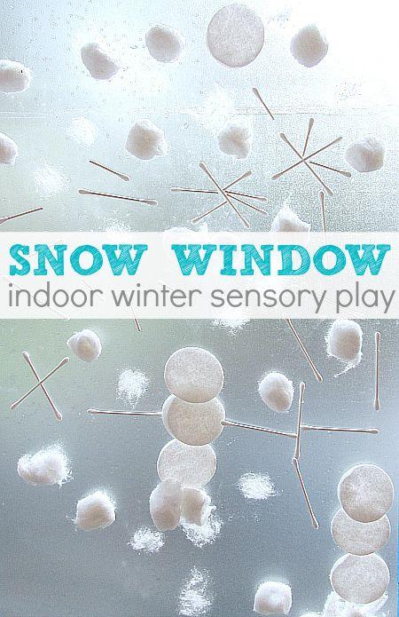 winter activity for preschool...snow window