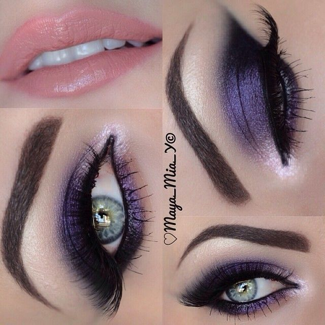 @M∙A∙C Cosmetics pigments  Lashes from @flutterlashesinc  And Dip brow Ebony by @anastasiabeverlyhills - @maya_mia_y- #webstagram