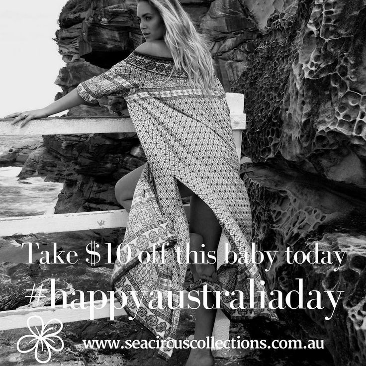 Inspirations of Australia. Byron days is cool comfortable and suits every shape. Get $10 of today only to celebrate our beautiful country. #australiaday #byronbay #beachlife #resortwear