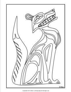 native american coloring pages | Pacific Northwest Indian Art Coloring Pages