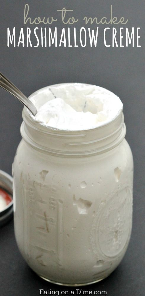 How to make Marshmallow Creme - This is much easier than you might think and it tastes amazing. Shhh... don't tell anyone because I can eat it by the spoonfuls.